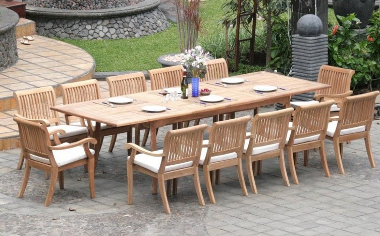 Teak Wooden Outside Furnishings for the Yard Outdoor patio
